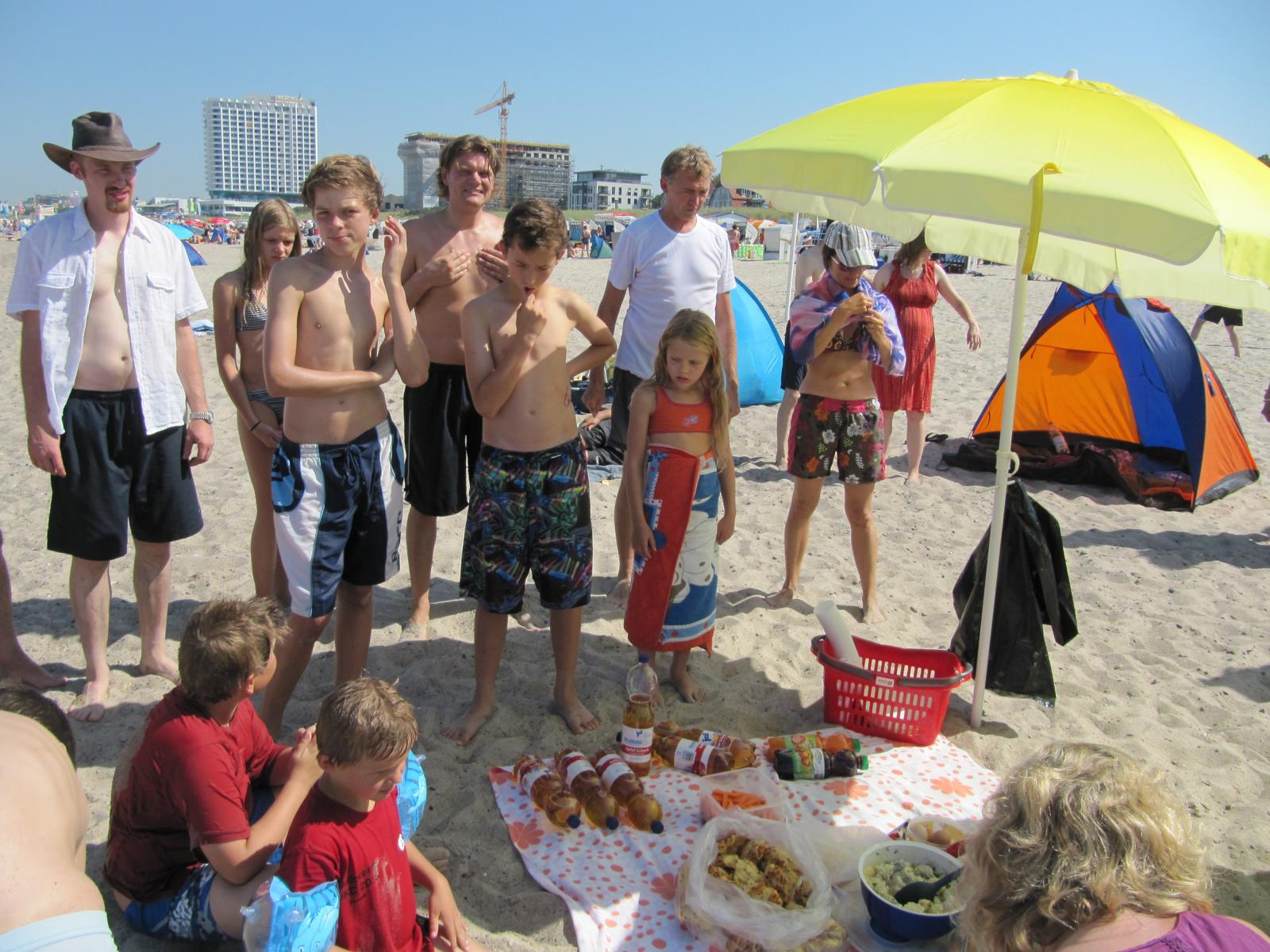 Mittag am Strand