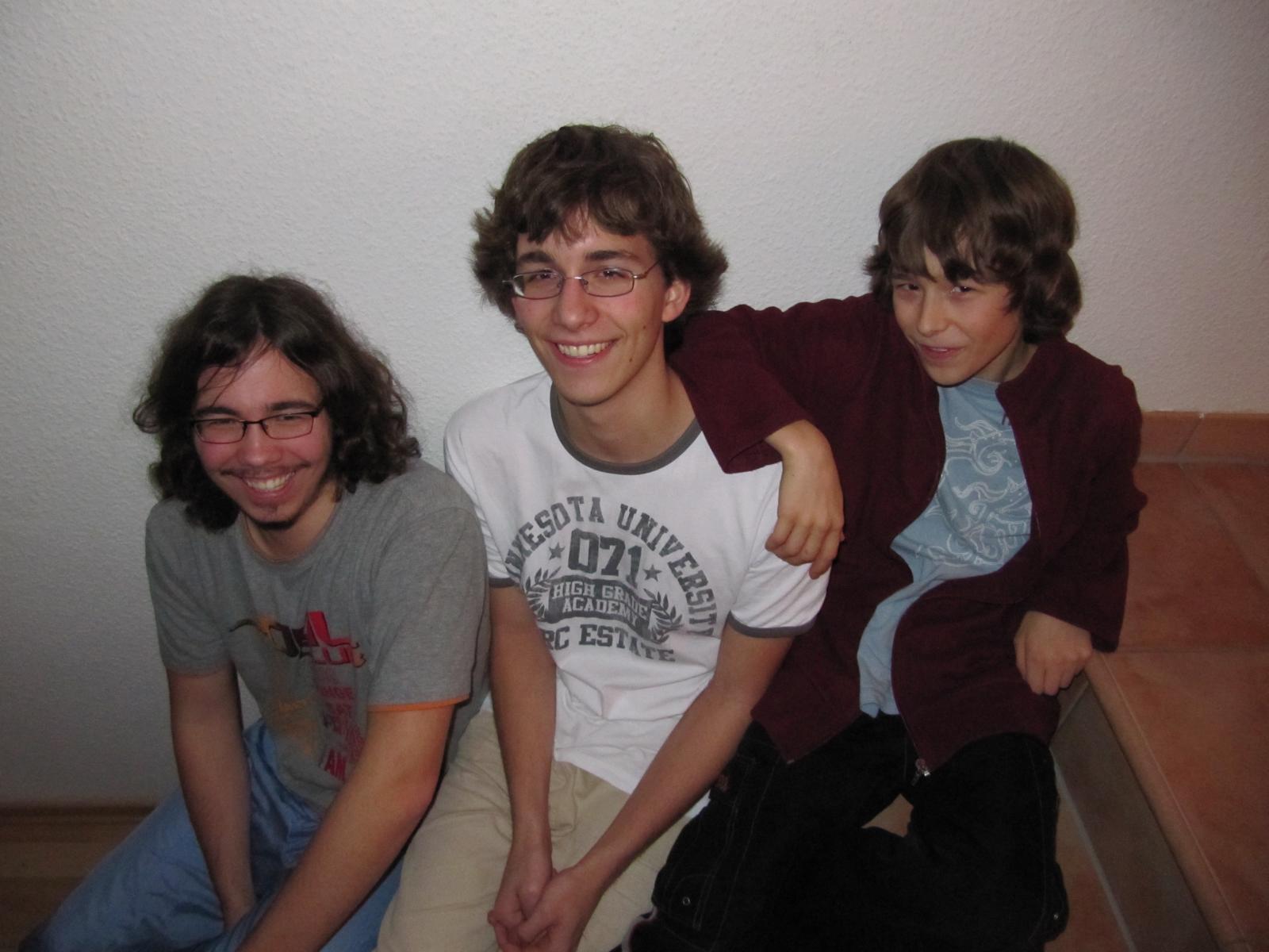 alle drei Jungs