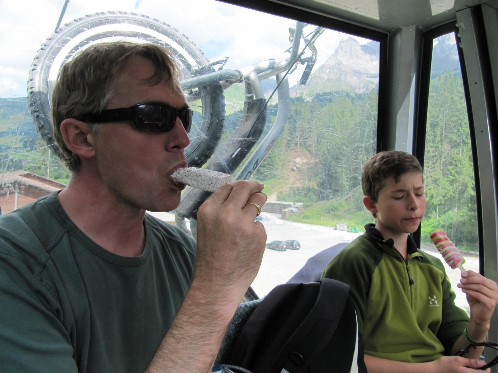 Bergbahn fahren