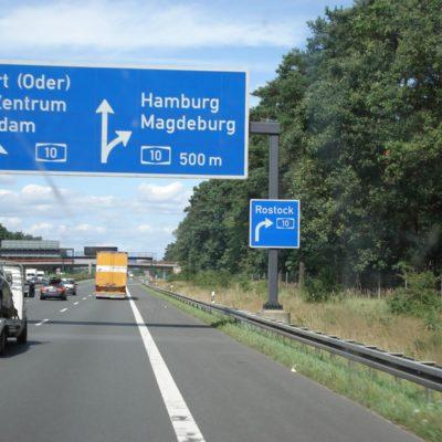 auf dem Weg nach Rostock