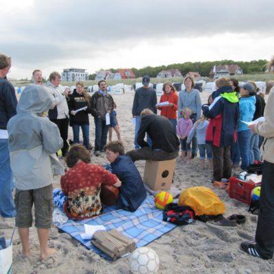 Gemeinde am Strand