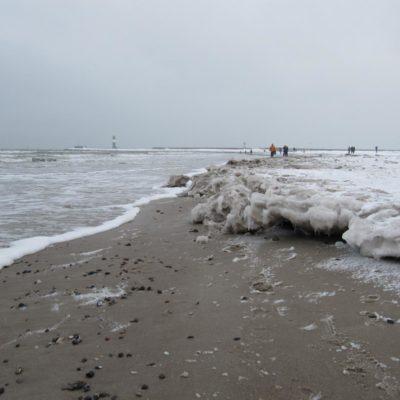 gefrorener Strand