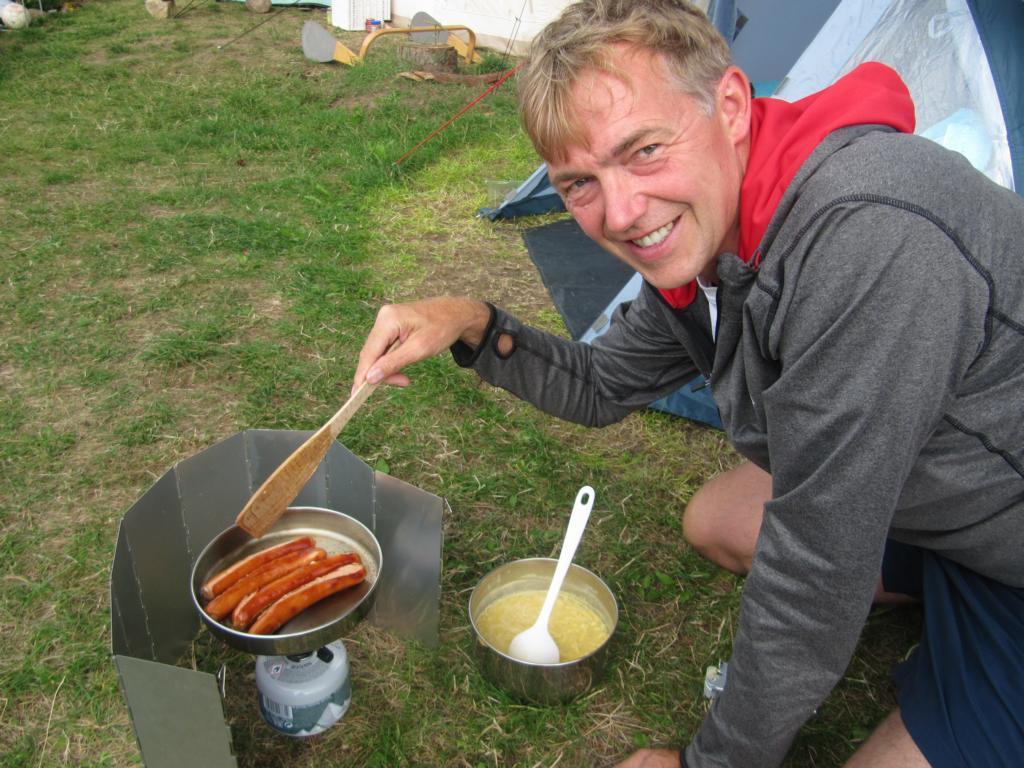 der Koch am Werk