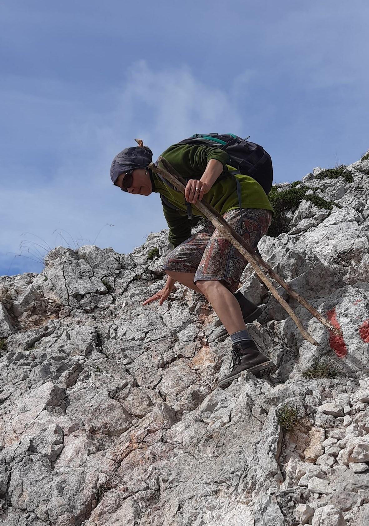 und wieder runter, 1000m Abstieg im August 2020